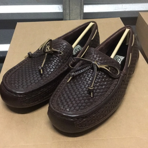 f97046e86ca New Ugg Chester woven leather brown loafer Sz 8 ❤️ NWT
